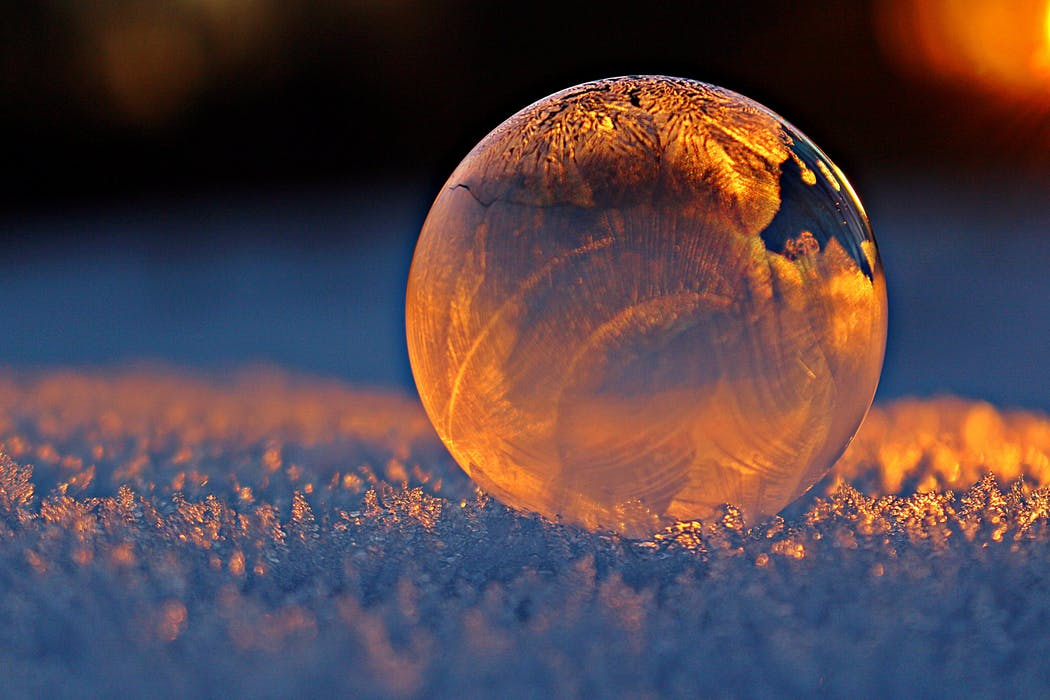 ice ball on snow