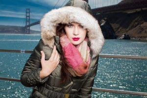 woman in anorak jacket