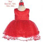 Infant's Sequins Covered Full Skirted Dress