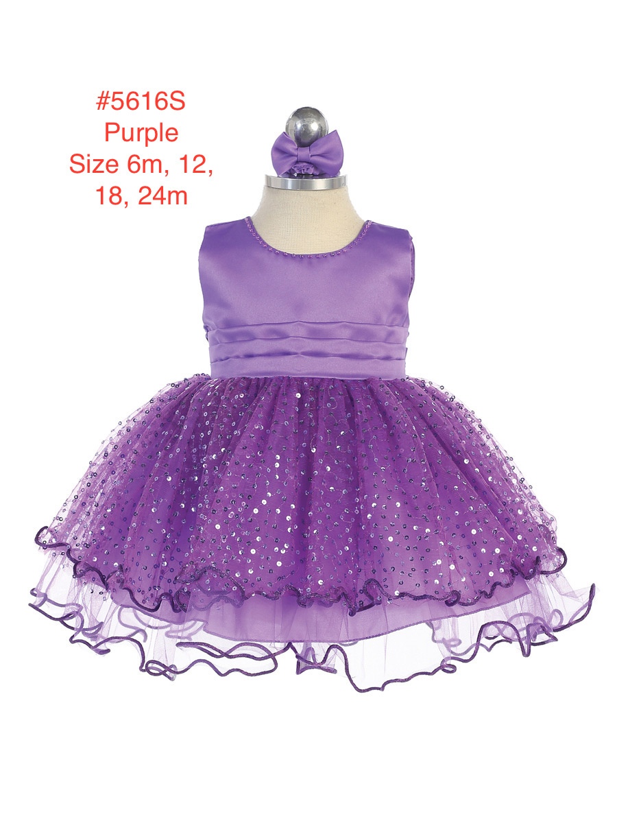 Infant's Sequins Covered Full Skirted Dress