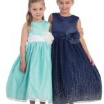 Girl's Sleeveless Satin Bodice Glitter Tulle Skirt