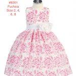 Girl's Flower Petal Embroidered Full Skirt Party Dress