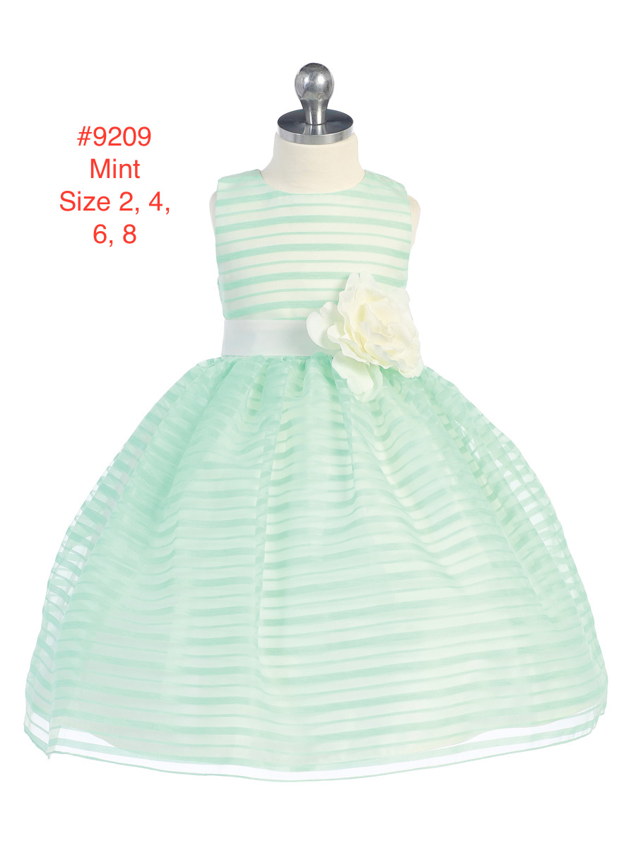 Girl's Peppermint-Patty Mint Green Sleeveless Party Dress