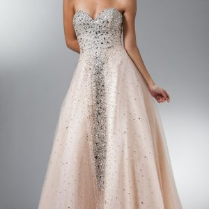 Dazzling Sweetheart Crystal Sequins Ball Gown