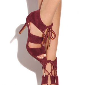 Exposed Rumor Open Toe Lace Up Sandal