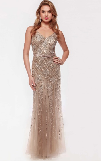 5ab32158a53 Illusion Beaded Full Length Mesh Gown – Deanna Adelle
