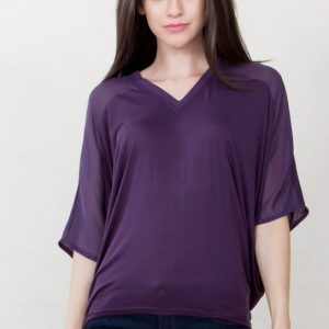 Purple Rain Draped Back Top