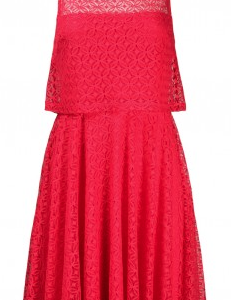 London Times Sleeveless Popover Crochet Lace Dress