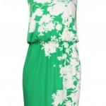 London Times Asymmetrical Floral Print Dress