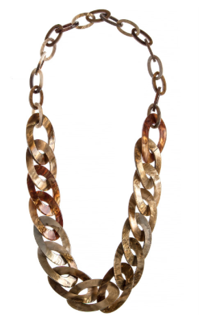 Mediterranean Long Oval Linked Acrylic Necklace Set