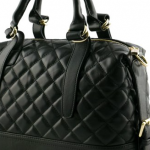 DESIGNER GENUINE LEATHER QUILTED TOP HANDLE BAG