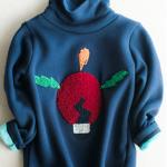 Girl's Smock Neck LightBulb Patch Sweatshirt