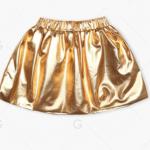 Girl's Crown Sweatshirt + Golden Mini Skirt