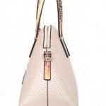 Rose Graceful Pendant Embossed Handbag