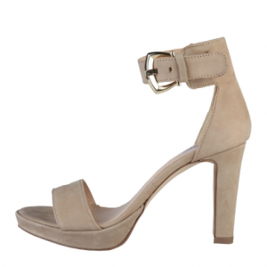 Bethany Suede Leather Ankle Strap Sandal