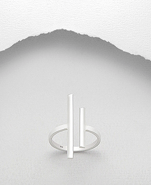 Sterling Silver Twin Peaks Ring