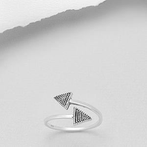 Sterling Silver Criss-Cross Arrow Ring