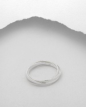Sterling Silver Interwoven Eternity Ring