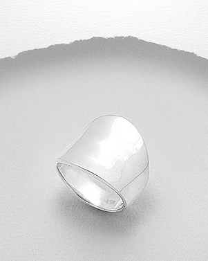 Sterling Silver Hammered Statement Ring