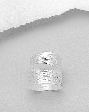 Sterling Silver Cut-Out Spiral Ring