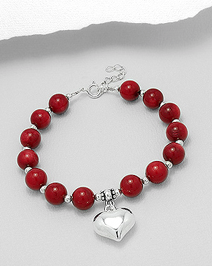 8a4b3c14a837 Sterling Silver Coral Beaded Bracelet – Deanna Adelle