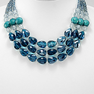 Crystal Glass Beaded Necklace