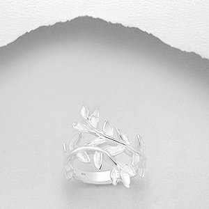 Sterling Silver Parted Leaf Ring