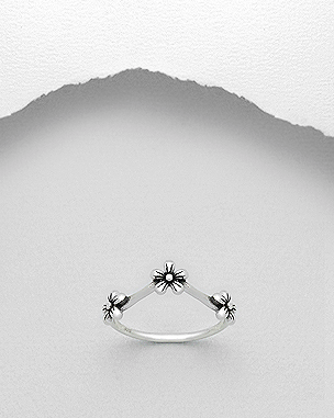 Sterling Silver Daisy Chain Ring