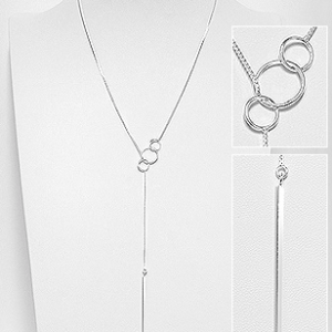 Sterling Silver Eternity Circle Stem Necklace