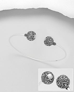 1c05ce840e81 Sterling Silver Crystal Ball Cuff Bracelet – Deanna Adelle