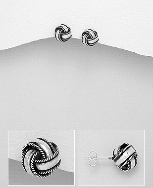 e094389b9db9 Sterling Silver Love Knot Post Earrings – Deanna Adelle