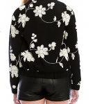 Poppy Flower Bomber Jacket