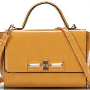 Vicki Shoulder Strap Leather Handbag
