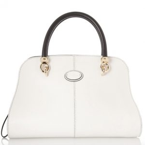 Leslie Ann Black and White Handbag