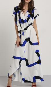 multicolor chevron maxi dress